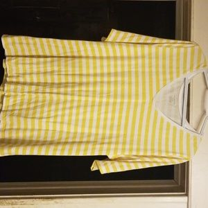Yellow and white stripped shirt